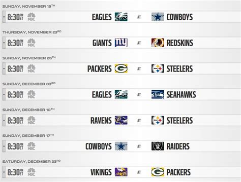 2017 nfl schedule release nfl schedule release 2017 sunday night games