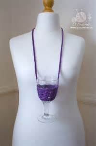 pattern for wine glass holder necklace 1000 images about crochet wine glass cosy patterns on