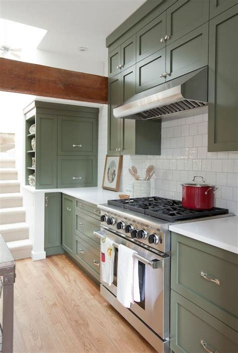 green kitchen cabinets centsational