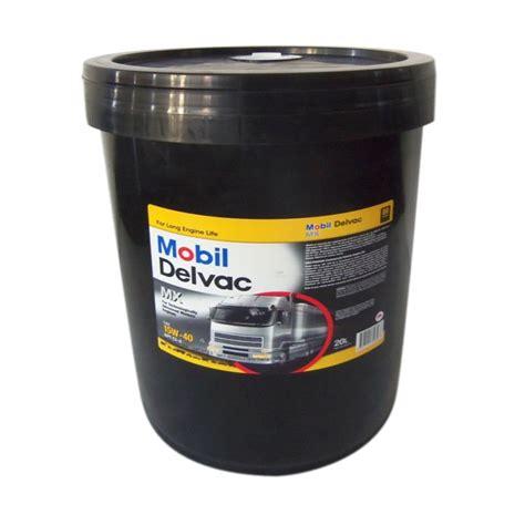 Mobil Delvac Mx 15w40 Oli 5 Liter jual mobil delvac mx oli pelumas 20 liter harga