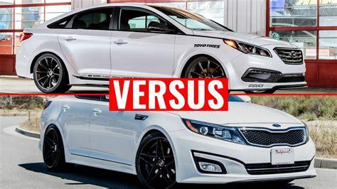 Kia Optima Versus Hyundai Sonata 2015 Hyundai Sonata Vs 2015 Kia Optima