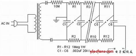 resistor capacitor pulse generator 马克思发生器电路图 电源电路图 电子发烧友网