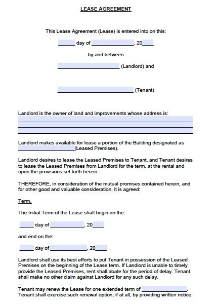 Nnn Agreement Template free colorado commercial lease agreement pdf word