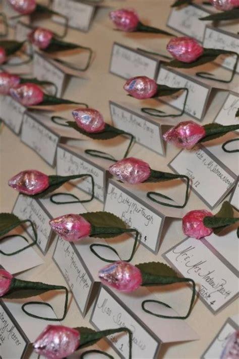 rose themed wedding favors hershey kiss rose favor
