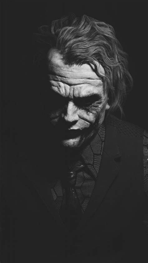 heath ledger joker monochrome batman