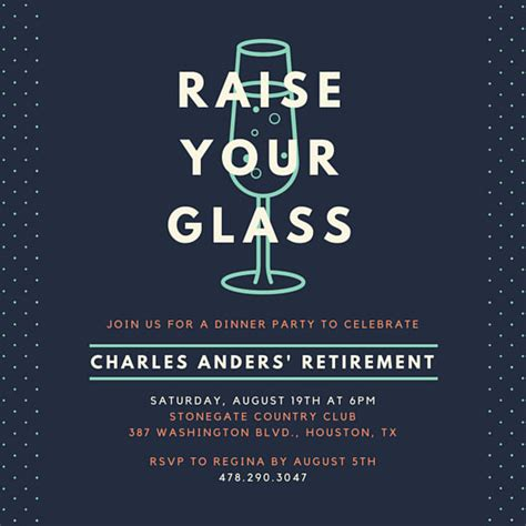 retirement party invitation templates canva