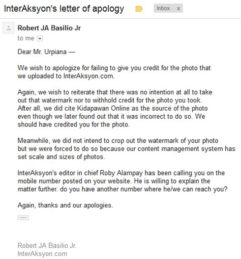 Apology Letter To For Lying Lakbay Lente Interaksyon Formal Apology My Mt Apo Photograph