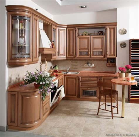 Kitchen Cabinets Designs Photos Pictures Of Kitchens Traditional Light Wood Kitchen Cabinets