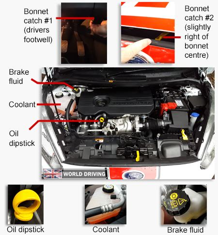 ford ka bonnet diagram show me tell me questions tests from 4th dec 2017