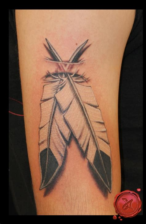 native american feather tattoos the american eagle feather design for