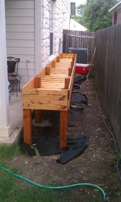 waist high raised bed garden plans waist high raised cedar