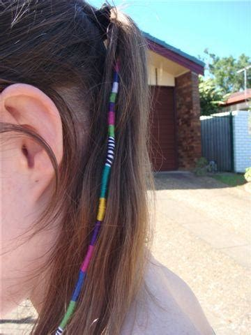 hair wrapping pictures colorful beaded feather strings hair wraps for girls