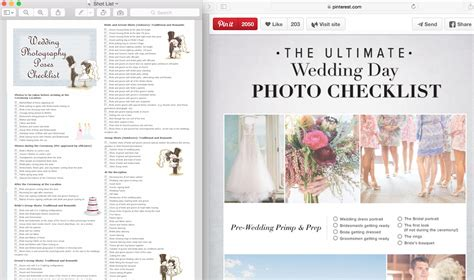 Wedding Photography List by Wedding Photography Photo List For Your Photographer