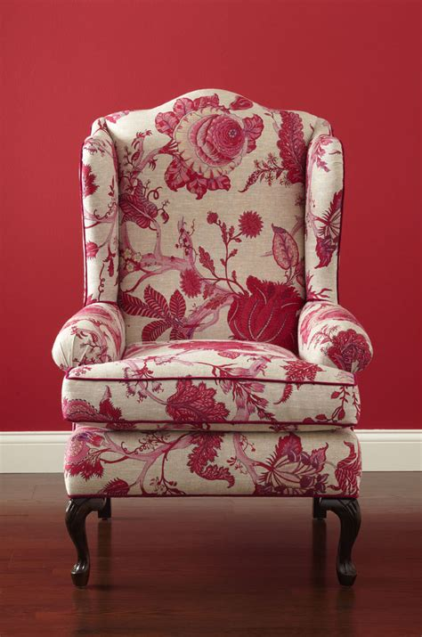 small traditional wingback chair creston upholstered parsons chair morris home