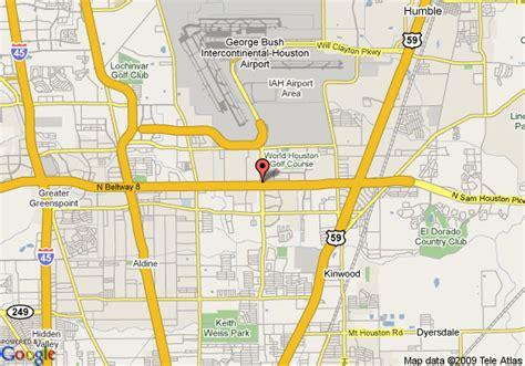 houston texas airport map map of inn houston intercontinental airport houston
