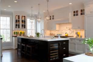 White Kitchen Black Island by Kitchen Island In Black The House That A M Built