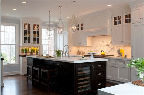 White Kitchen Lighting Kitchen Island In Black The House That A M Built