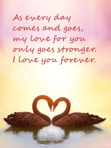 My Love Only Goes Stronger   Love Card   Birthday