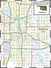 oklahoma road map oklahoma city ok map