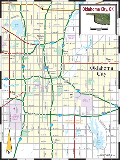 road map of oklahoma oklahoma city ok map