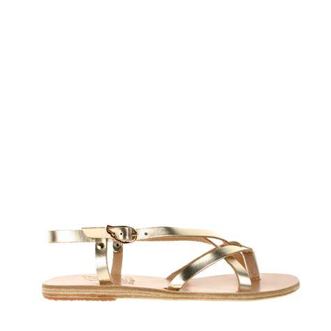 ancient sandal ancient sandals handmade semele sandals in gold lyst