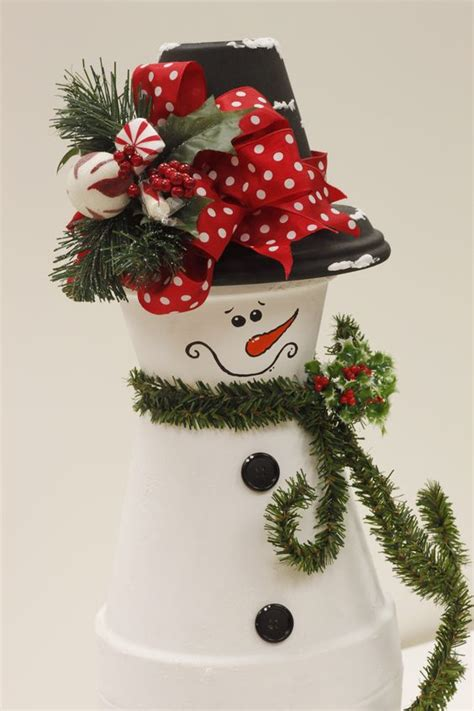 clay pot snowman by linda a c moore waldorf md claypot