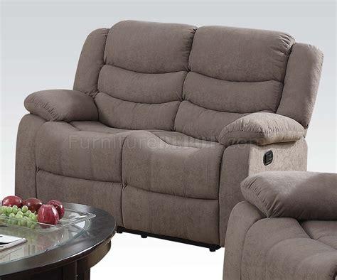 light brown velvet chair jacinta motion sofa in light brown velvet by acme w options