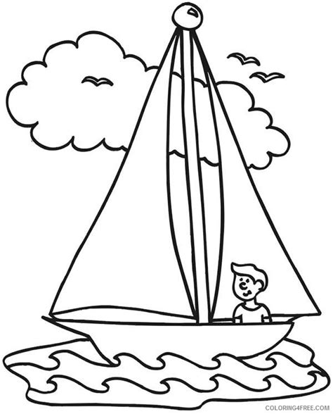 boat outline coloring page long boat coloring pages coloring4free coloring4free