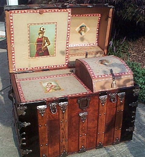 beautiful travel trunks martin maier dome top restored antique trunk for sale 336