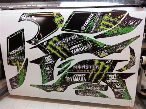 Monster Energy Sticker Kits Yamaha by Yamaha Yfz 450 Monster Energy Atv Graphics Kit By