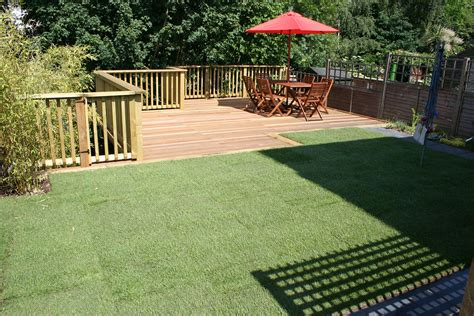 decking design ideas for sloping garden agi landscapes
