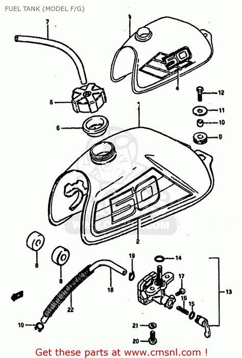 1985 Suzuki Lt50 Parts Suzuki Lt50 1985 F Fuel Tank Model F G Schematic