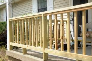 How To Build A Wooden Handrail how to build porch railing wooden home interior exterior