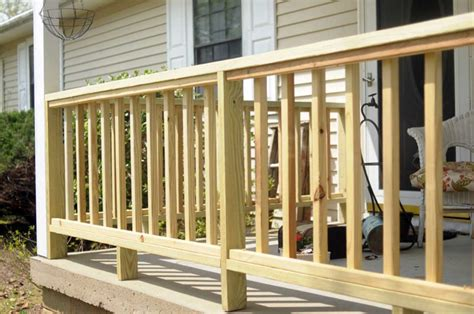 Patio Deck Railing Designs How To Build Porch Railing Wooden Home Interior Exterior