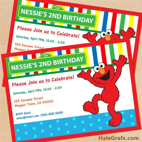 free printable elmo birthday invitations template free printable sesame street elmo birthday invitation