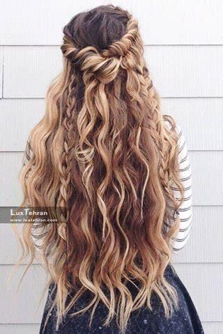 imágenes del curly hair days مدل شینیون نیمه باز مناسب برای مهمانی و عروسی مدل شنیون