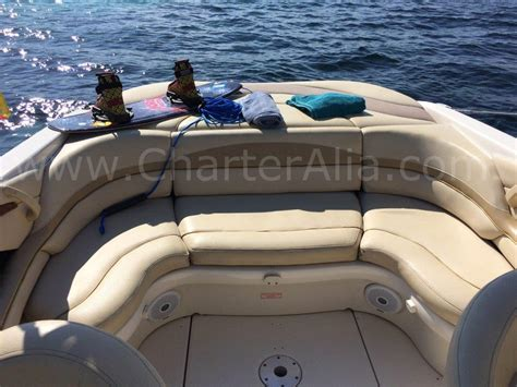 boat seats sea ray skippered speed boat sea ray 230 for 10 people yacht