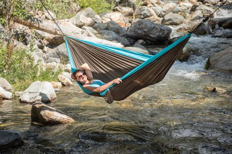 colibri turquoise travel hammock with suspension