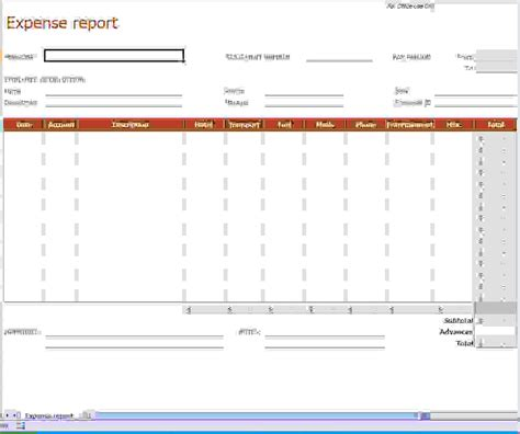 detailed expense report template travel expense report template detailed expense report