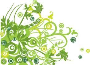 無料 グリーンフローラル ベクターグラフィック背景素材 free style