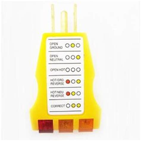 2 x electrical outlet receptacle tester faulty wire finder