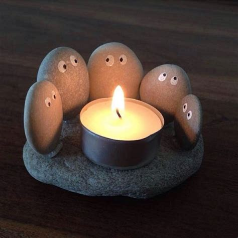 Home Interior Candle Fundraiser 13 creative diy home decor ideas with pebbles and river rocks