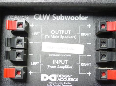passive subwoofer connection home theater forum