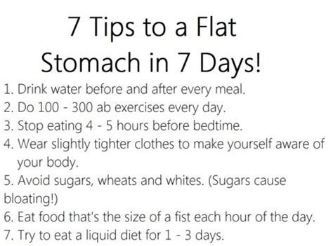 how to get a flat stomach in a week fitness