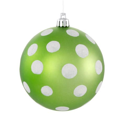 100mm polka dot polka dot ornament matte lime green