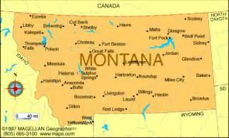 Montana Us Map by Atlas Montana
