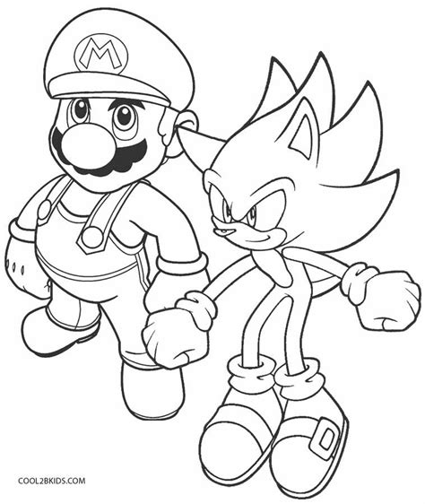 sonic coloring page printable sonic coloring pages for cool2bkids