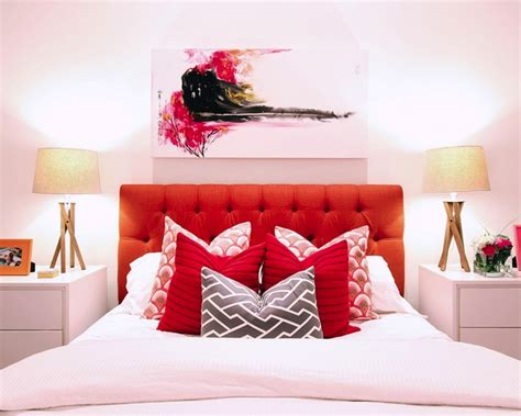 red tufted headboard red tufted headboard contemporary bedroom jana bek