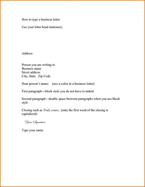 14 how to type a business letter format lease template