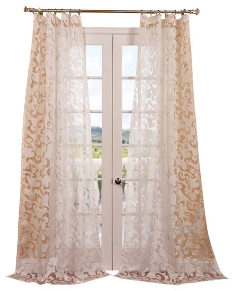 pattern sheer curtains alesandra patterned sheer curtain contemporary